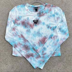 CUSTOM Color Tie Dye Pug Ribbed Crop Top Jrs L